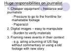 huge responsibilities on journalist