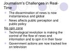 journalism s challenges in real time