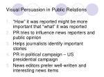 visual persuasion in public relations