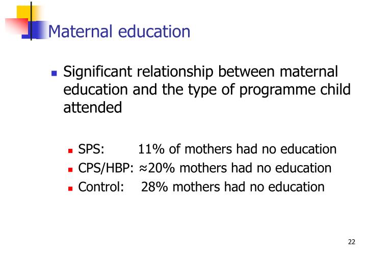Maternal education