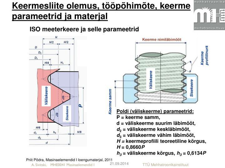 Keermesliite olemus, tööpõhimõte, keerme parameetrid ja materjal