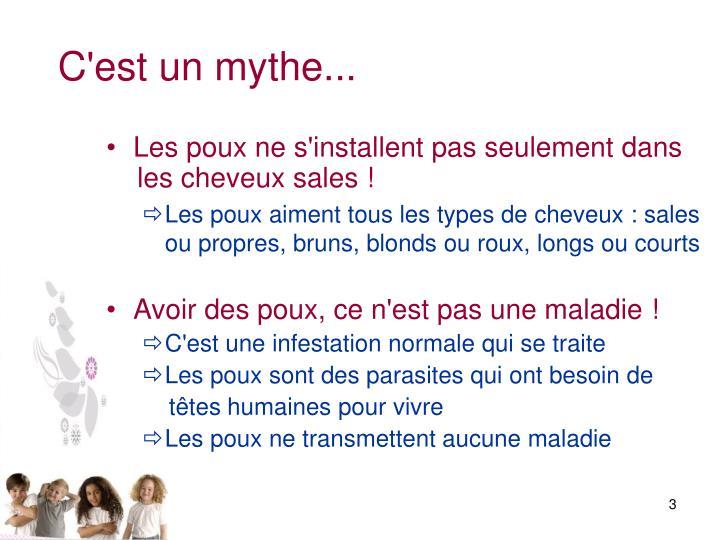 C'est un mythe...