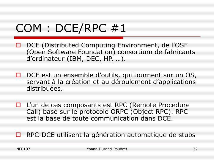 COM : DCE/RPC #1