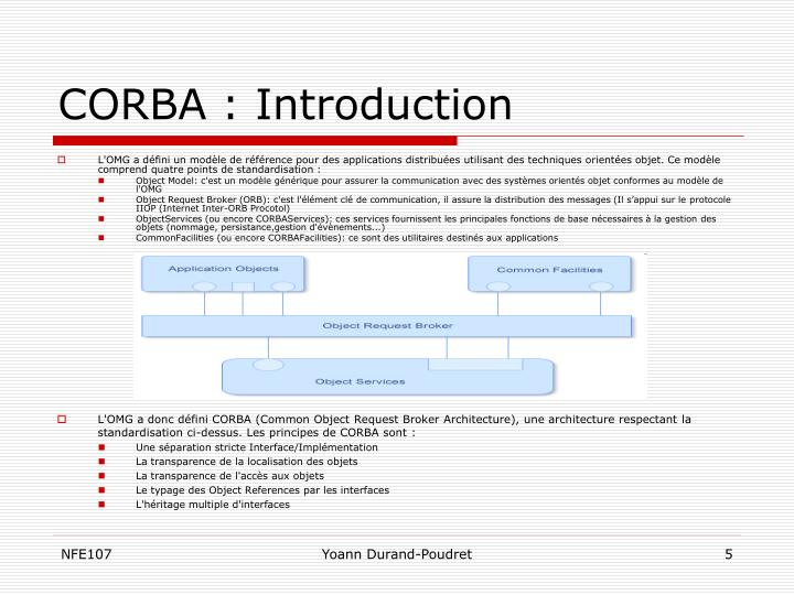 CORBA : Introduction