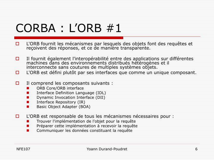 CORBA : L'ORB #1