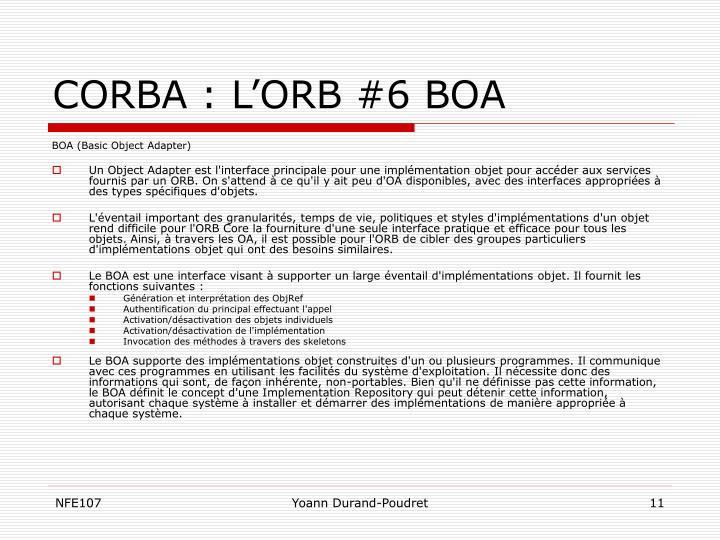 CORBA : L'ORB #6 BOA
