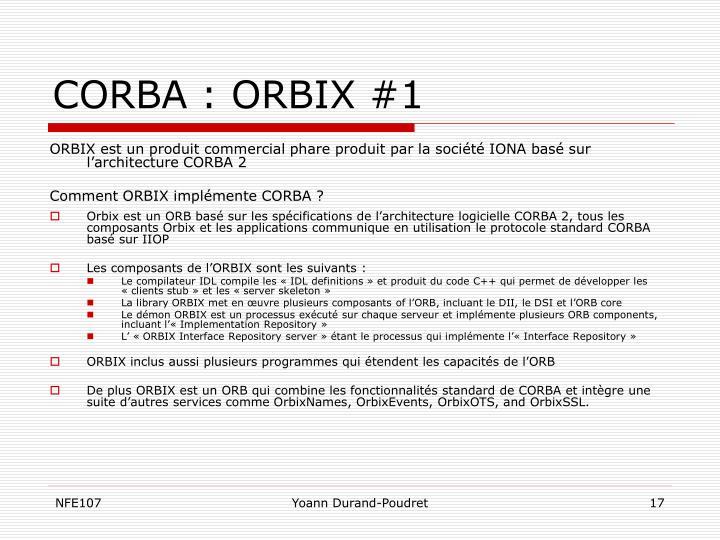 CORBA : ORBIX #1