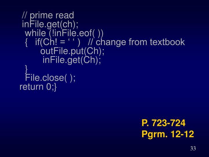 // prime read