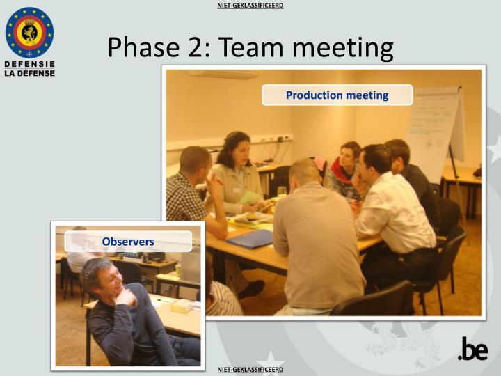 Phase 2: Team meeting