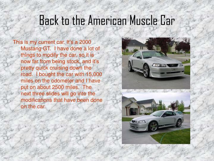 Back to the American Muscle Car