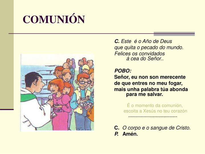 COMUNIÓN