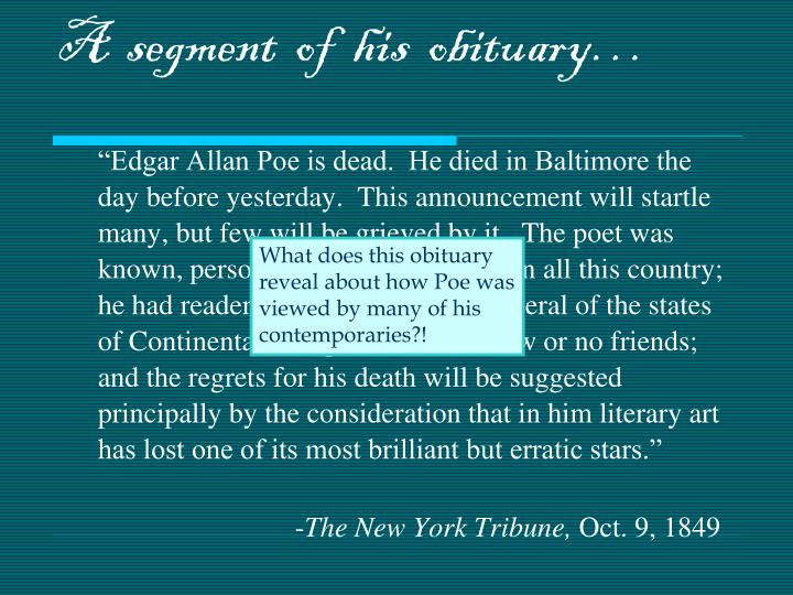 A  segment  of  his  obituary…