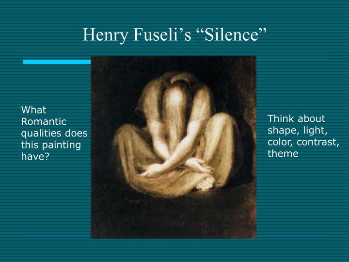 "Henry Fuseli's ""Silence"""