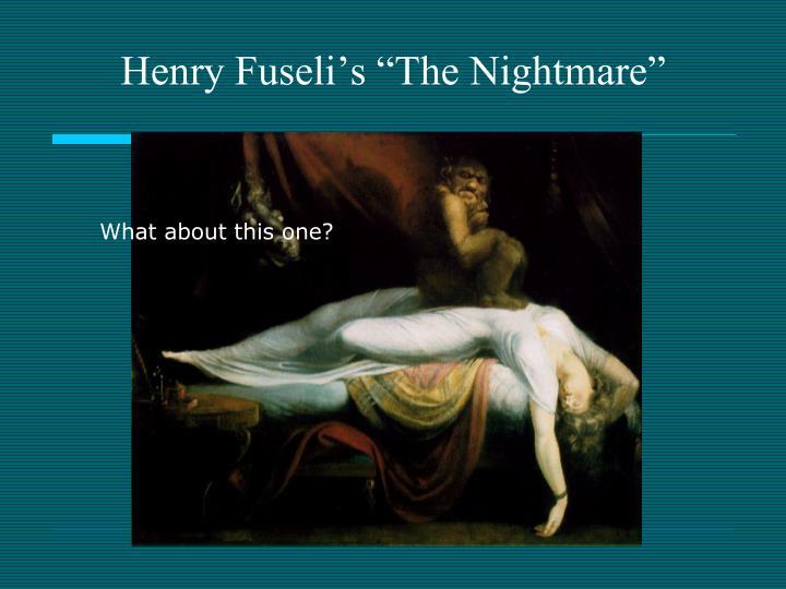 "Henry Fuseli's ""The Nightmare"""