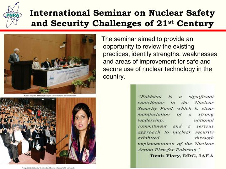 International Seminar on Nuclear Safety and Security Challenges of 21