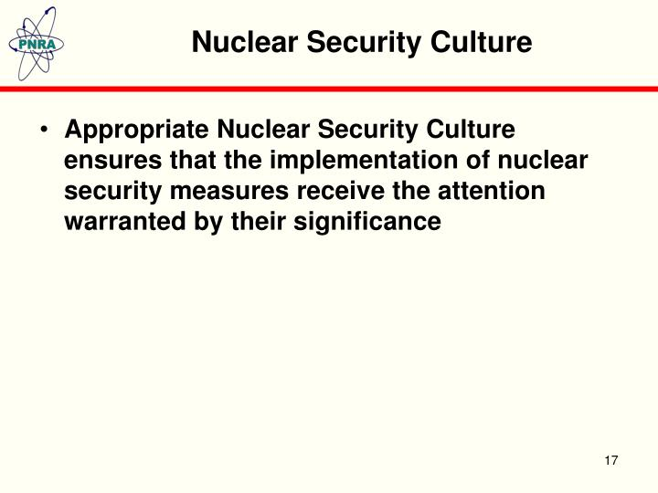 Nuclear Security Culture