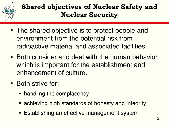 Shared objectives of Nuclear Safety and Nuclear Security