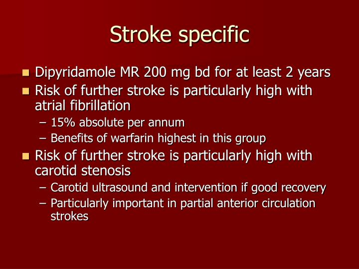 Stroke specific