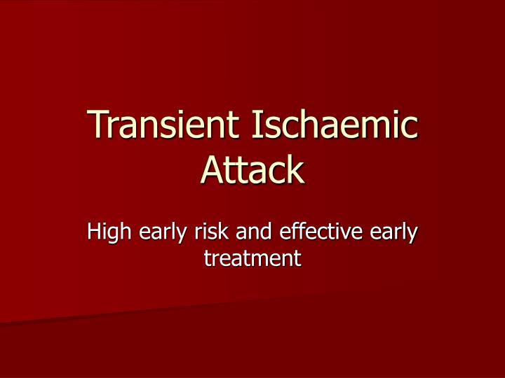 Transient Ischaemic Attack