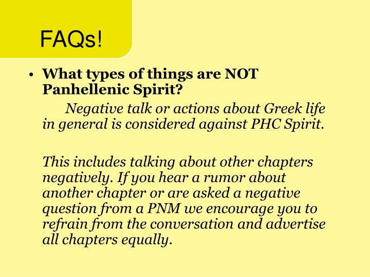 FAQs!