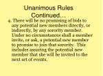 unanimous rules continued1