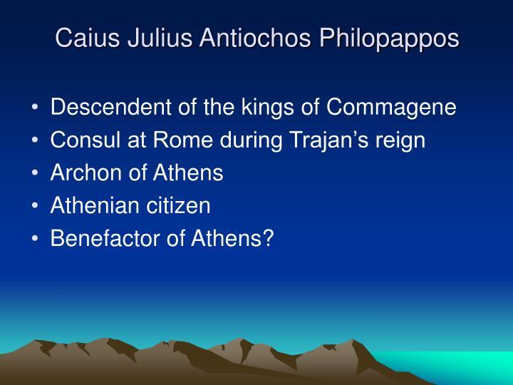 Caius Julius Antiochos Philopappos