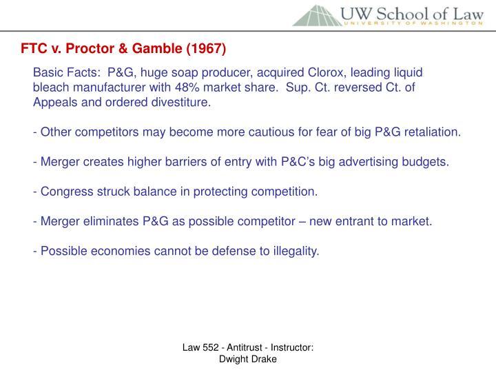 FTC v. Proctor & Gamble (1967)