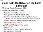 block ic 0 cg solver on the earth simulator