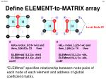 define element to matrix array1