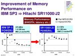 improvement of memory performance on ibm sp3 hitachi sr11000 j2