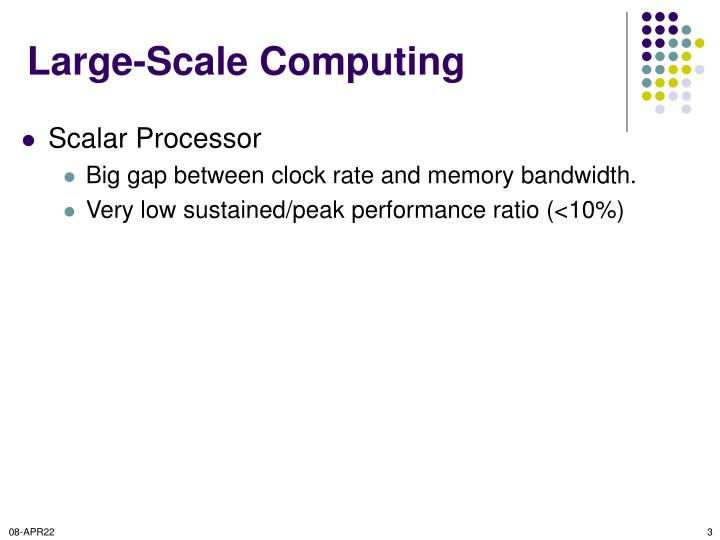 Large scale computing