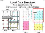 local data structure node based partitioning internal nodes elements external nodes