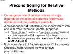 preconditioning for iterative methods