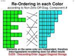 re ordering in each color according to non zero off diag component