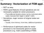 summary vectorization of fem appl