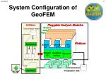 system configuration of geofem