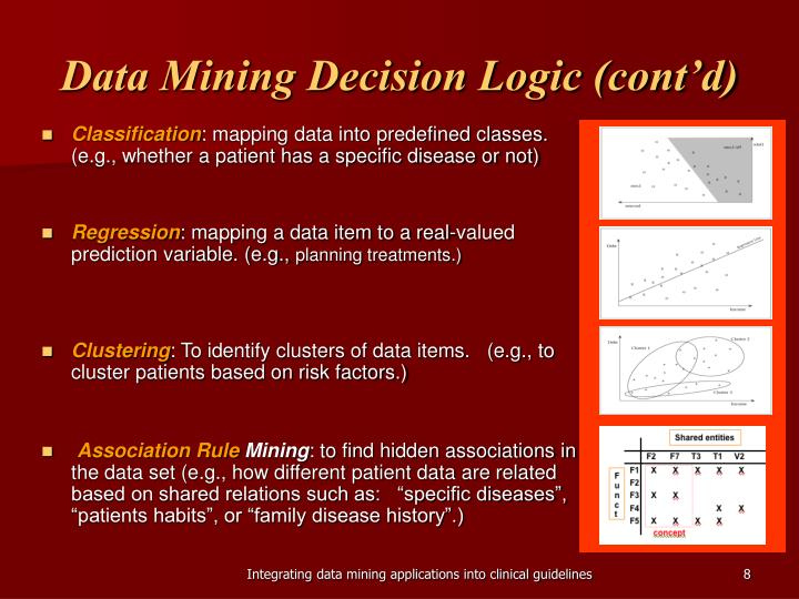Data Mining Decision Logic (cont'd)