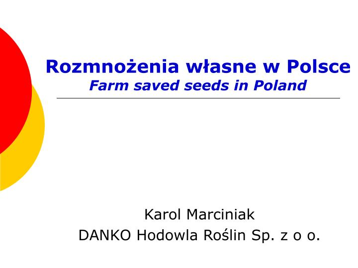 Rozmno enia w asne w polsce farm saved seeds in poland