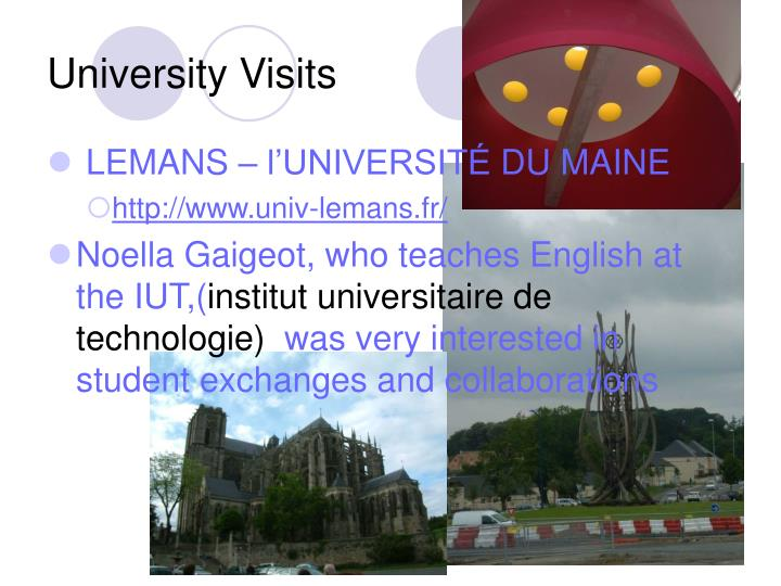 University Visits