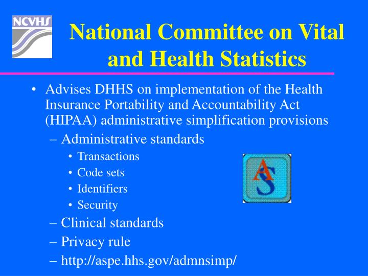 National Committee on Vital and Health Statistics