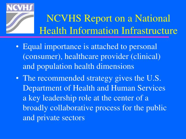 NCVHS Report on a National
