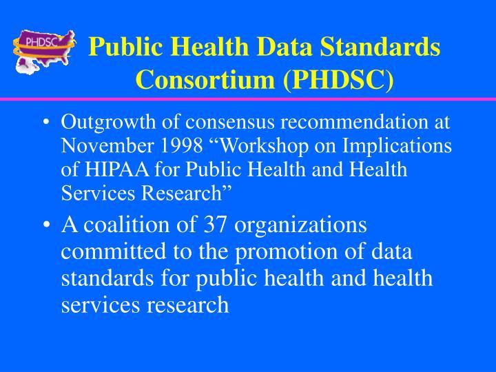 Public Health Data Standards