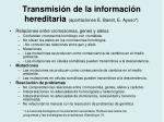 transmisi n de la informaci n hereditaria aportaciones e banet e ayuso1