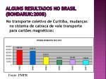 alguns resultados no brasil bondaruk 2008