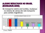 alguns resultados no brasil bondaruk 20081