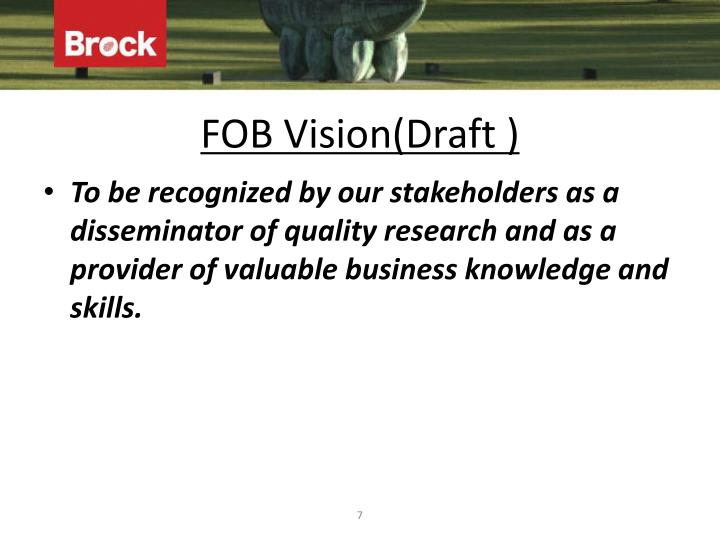 FOB Vision(Draft )