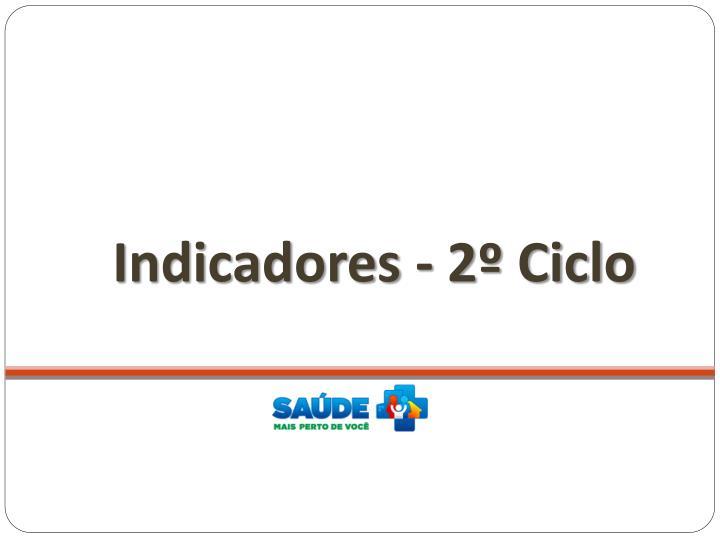 Indicadores - 2º Ciclo