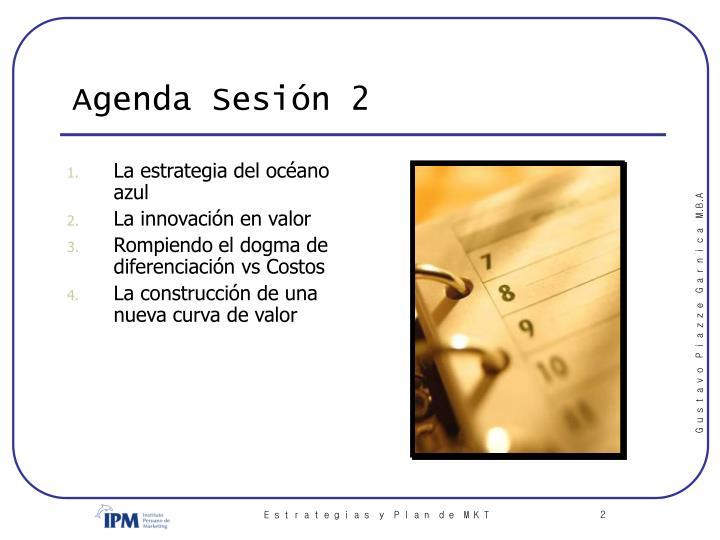 Agenda Sesión 2