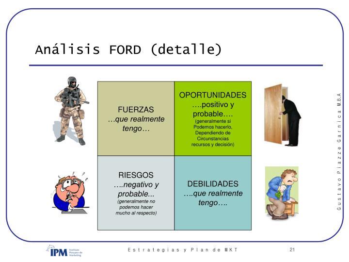 Análisis FORD (detalle)