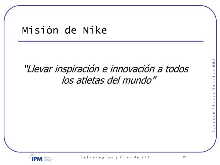 Misión de Nike